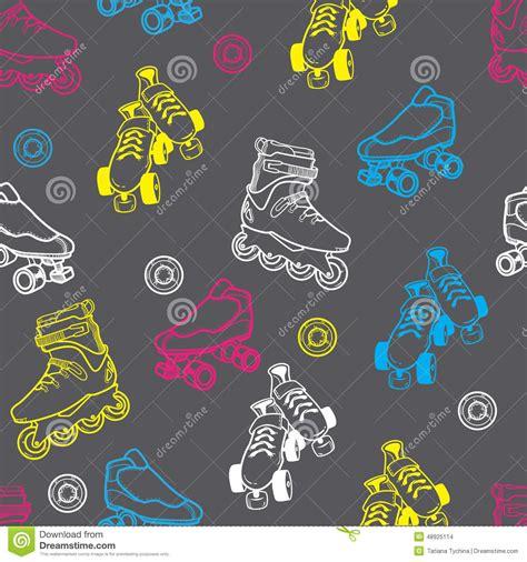 pattern for roller skate roller skate seamless pattern stock vector image 48925114