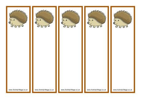 hedgehog bookmarks hedgehog bookmarks