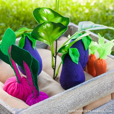 Make Plant - diy plantable felt vegetable garden part 2