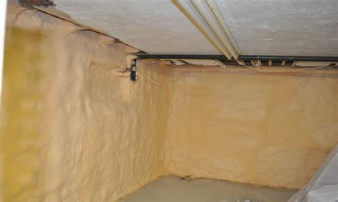 spray foam insulation basement walls basement insulation photo gallery enerliv