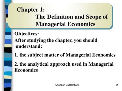 Mba After Masters In Economics by Managerial Economics