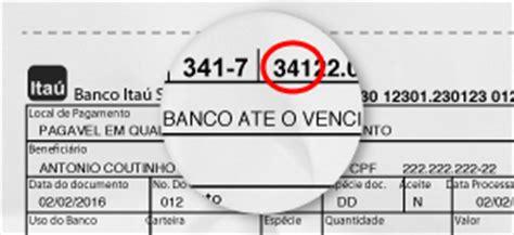 banco itau numero foto de um boleto contendo o c 243 digo do banco ita 250 341