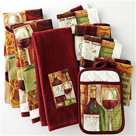 Italian Themed Kitchen Curtains Wine Kitchen Towels Pot Holders Wine Themed Kitchen Barrow Kohls And Kitchens