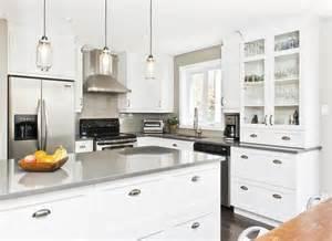 armoires blanche comptoir gris search cuisine