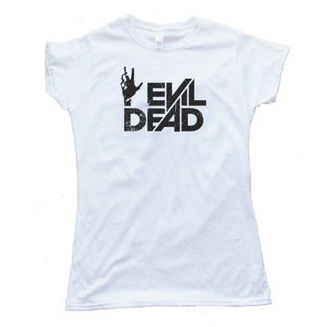 Evil Dead White Shirt Quality Distro womens evil dead logo shirt