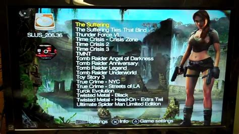 mod game list for sale 500gb ps2 with 188 games on internal hard drive