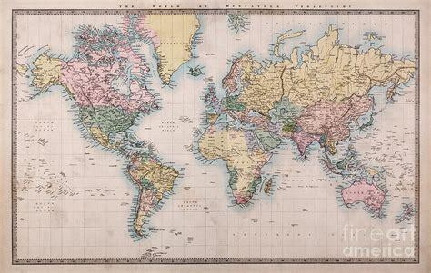 world map on mercators projection by richard