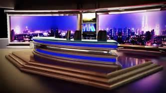 Interior Decors 3d tv news room