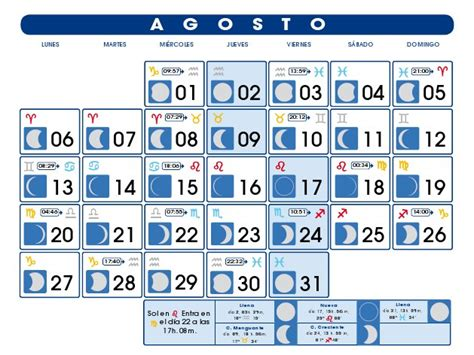 Calendario Agosto 2006 Calendario Lunar 2015