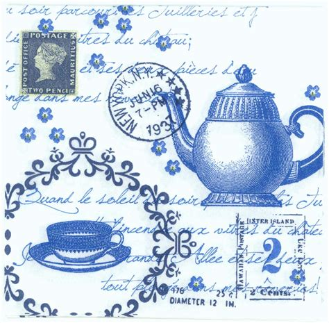 Sale Paper Napkin Dainty Made In Germany decoupage paper napkins of tea with cup and pot