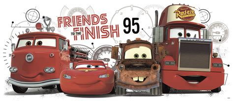 wall stickers cars cars 2 friends to the finish