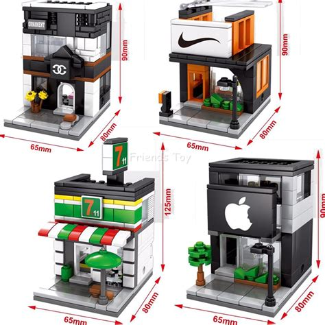 Brick Hsanhe 6405 Mini Apple Store apple store promotion shop for promotional apple store on aliexpress