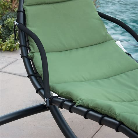 swing lounger hanging chaise lounger chair arc stand air porch swing
