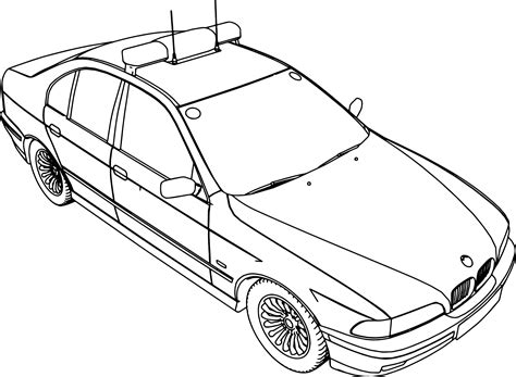coloring pages cop cars bmw 5 police car coloring page wecoloringpage