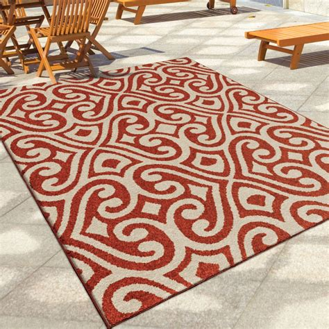 Large Outdoor Area Rugs Orian Rugs Indoor Outdoor Damask Scroll Santee Area Large Rug 2355 8x11 Orian Rugs