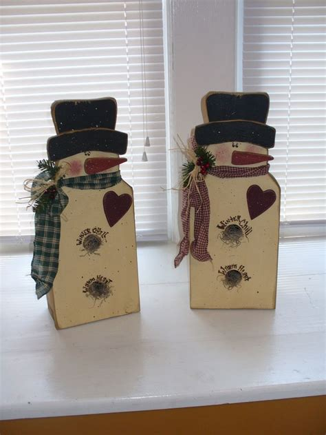 Handmade Primitive Ornaments - the 140 best images about prim snowmen on