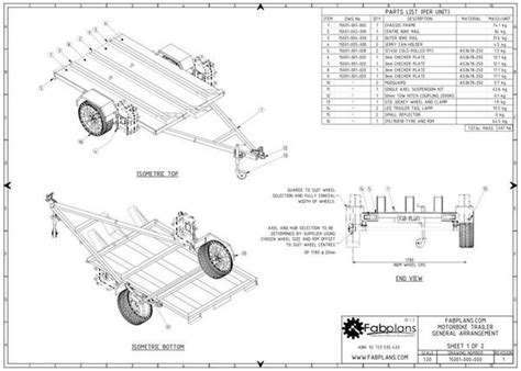Tiny Home Plans Designs by Motorbike Trailer Plans Build Your Own Mx Trailer Fabplans