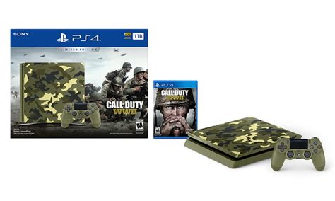 ps4 console bundle deals ps4 console with call of duty wwii limited edition bundle