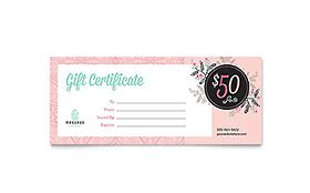 gift certificate templates indesign illustrator publisher