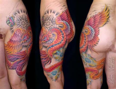 superior tattoo phoenix az phoenix leg and hip tattoo minus the extra stuff only