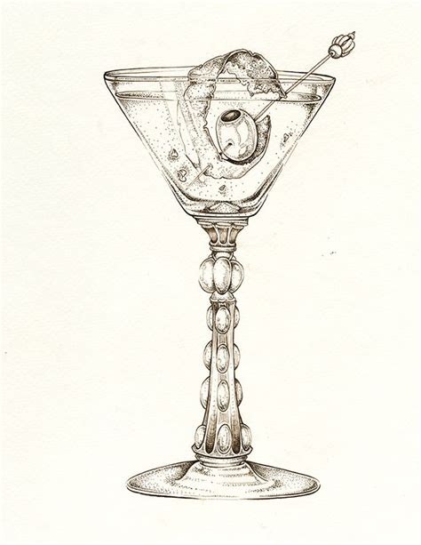 martini shaker drawing spicy martini quot thang quot by ellie lukova ink
