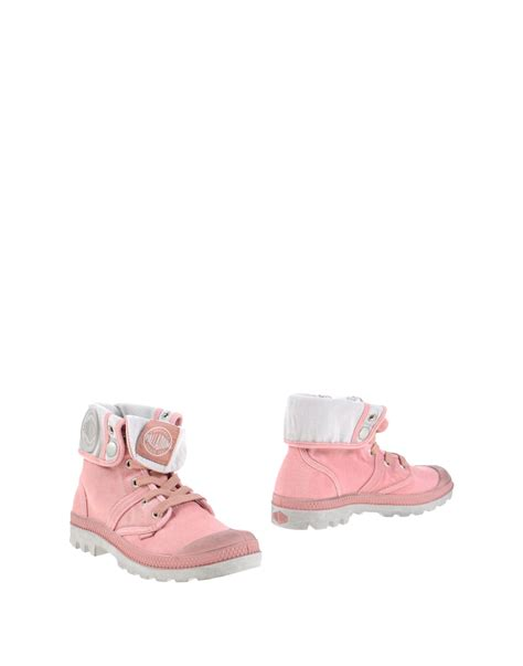 palladium ankle boots in pink lyst
