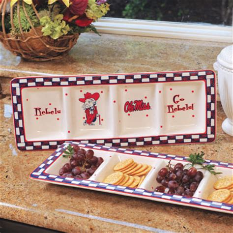 Ole Miss Help Desk by Mississippi Ole Miss Rebels Ncaa College Gameday Ceramic Relish Tray