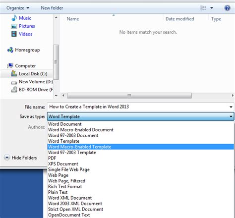 how to create a template in word 2013 tutorials tree