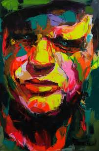 colorful painting explosive colorful portraits paintings