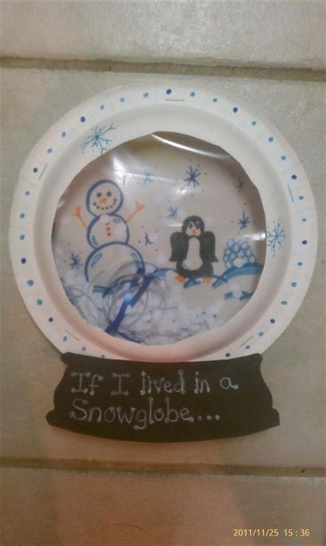 snow globe paper craft this is a idea let it snow winter