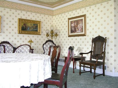 stock photo  formal living victorian dining room