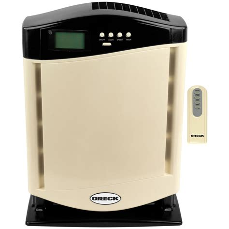 oreck 174 air purifier with hepa filter almond 235847 healthy living at sportsman s guide