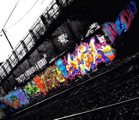graffiti street art  wall side railway digital graffiti