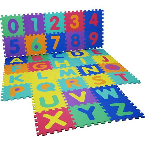 Play Area Mats by Large Interlocking Soft Foam Mats 36pc Letters