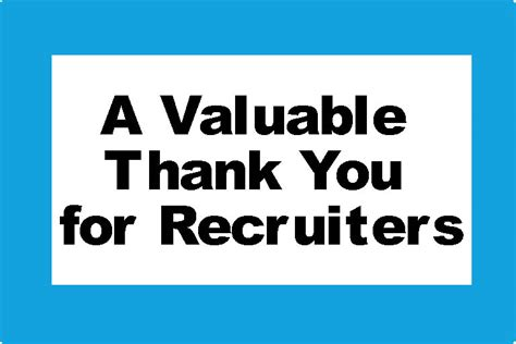 a valuable thank you for recruiters cinq