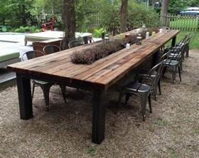 Rustic Outdoor Dining Table Reclaimed Wood Outdoor Furniture Rustic Outdoor Tables Outdoor Intended For Wooden Patio Dining