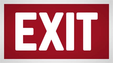 Exit A exit icon sign animation loop motion