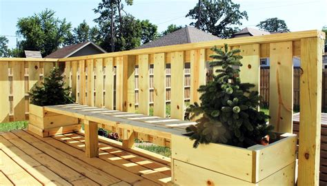 Plans For Planter Boxes For Decks by Large Deck Planters Iimajackrussell Garages Best Deck