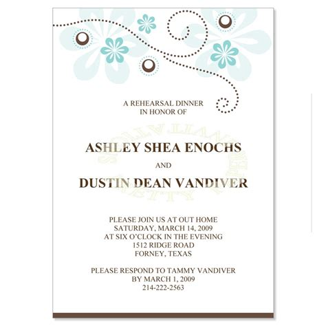 rehearsal dinner invitation template free 10 best images of dinner invitation template formal