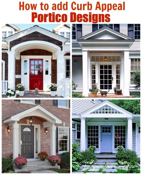how to add curb appeal to your home how to add curb appeal with a portico roof structure an