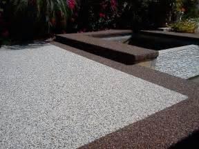 Pea Gravel Epoxy Patio by Pebblestone Flooring Concrete Resurfacing Lotto