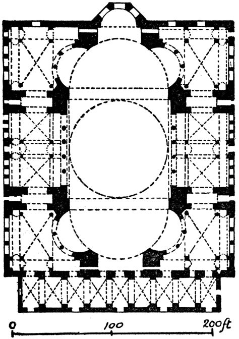 floor plan of hagia sophia plan of hagia sophia clipart etc