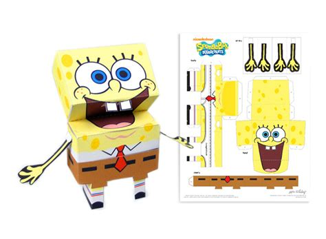 How To Make Spongebob With Paper - paper craft hijessiekaye