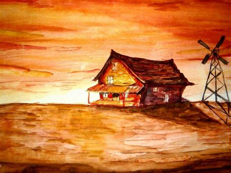 courage the cowardly dog house courage the cowardly dog house watercolors art amino