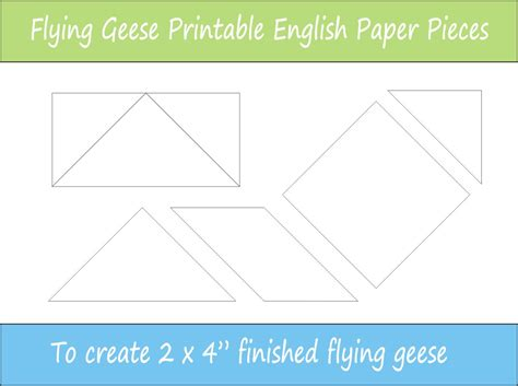 4 quot flying geese printable english paper pieces epp