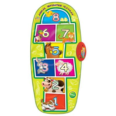 Playmat Bermain Animal Hopscotch Baterai baby basics zippy mats educational playmats