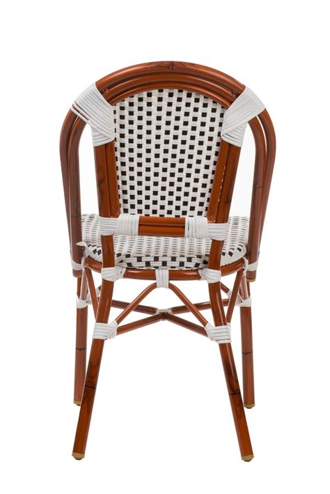 Bamboo Bistro Chairs Aluminum Bamboo Look Bistro Chair Stackable Chairs Chairs Direct Seating
