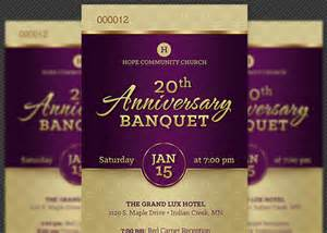church anniversary banquet ticket template godserv