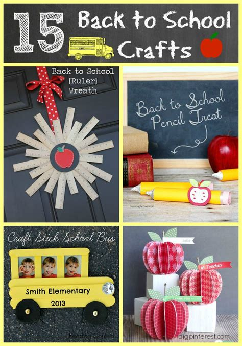back to school crafts for 15 creative back to school crafts i dig