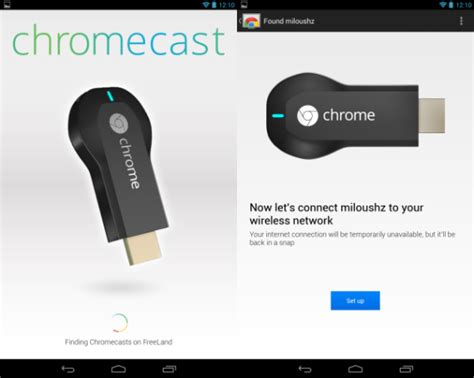 chromecast extension android how to set up chromecast